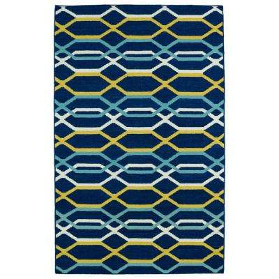 Glam Navy 9 ft. x 12 ft. Area Rug