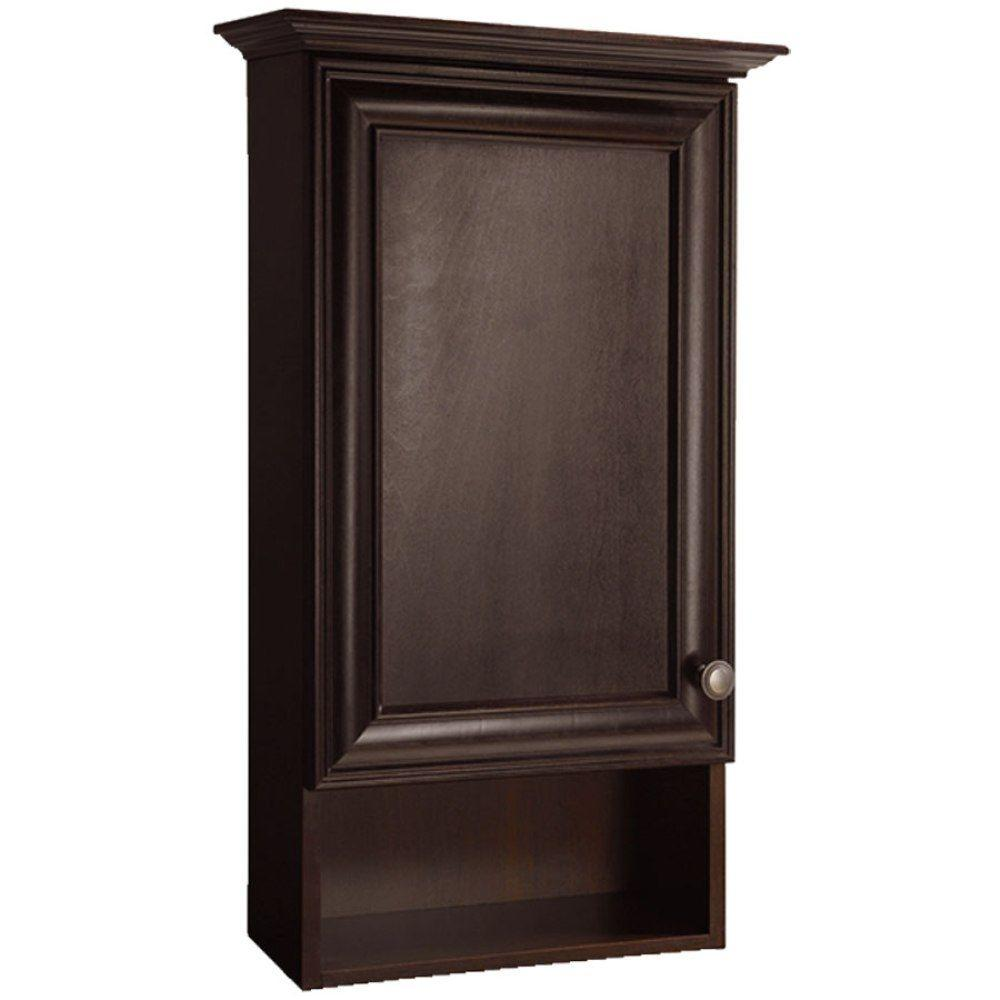 Home Decorators Collection Grafton 17 in. W x 29.6 in. H x 7.63 in. D Bathroom Storage Wall Cabinet in Crimson