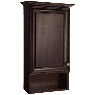 Grafton 17 in. W x 29.6 in. H x 7.63 in. D Bathroom Storage Wall Cabinet in Crimson