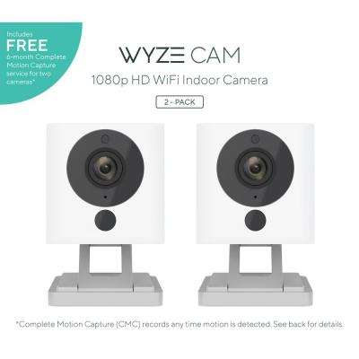 1080p WyzeCam HD Wi-Fi Indoor Smart Home Camera Night Vision 2-Way Mic Alexa and Google 14-Day Cloud Drive CMC Service