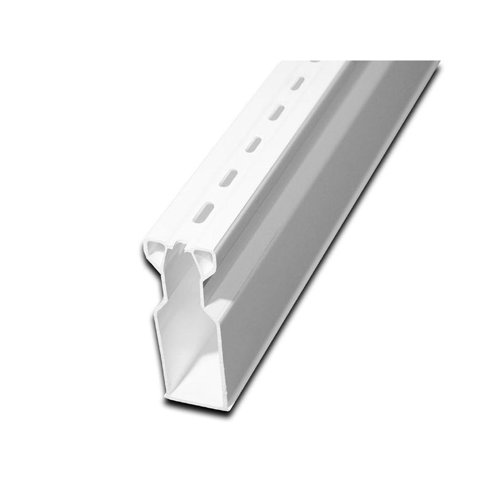 1-1/4 in. x 5 ft. Plastic White Micro Channel with Coupling