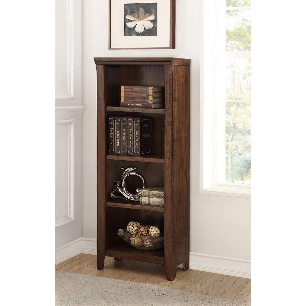 Foremost rockwell distressed wheat bookcase