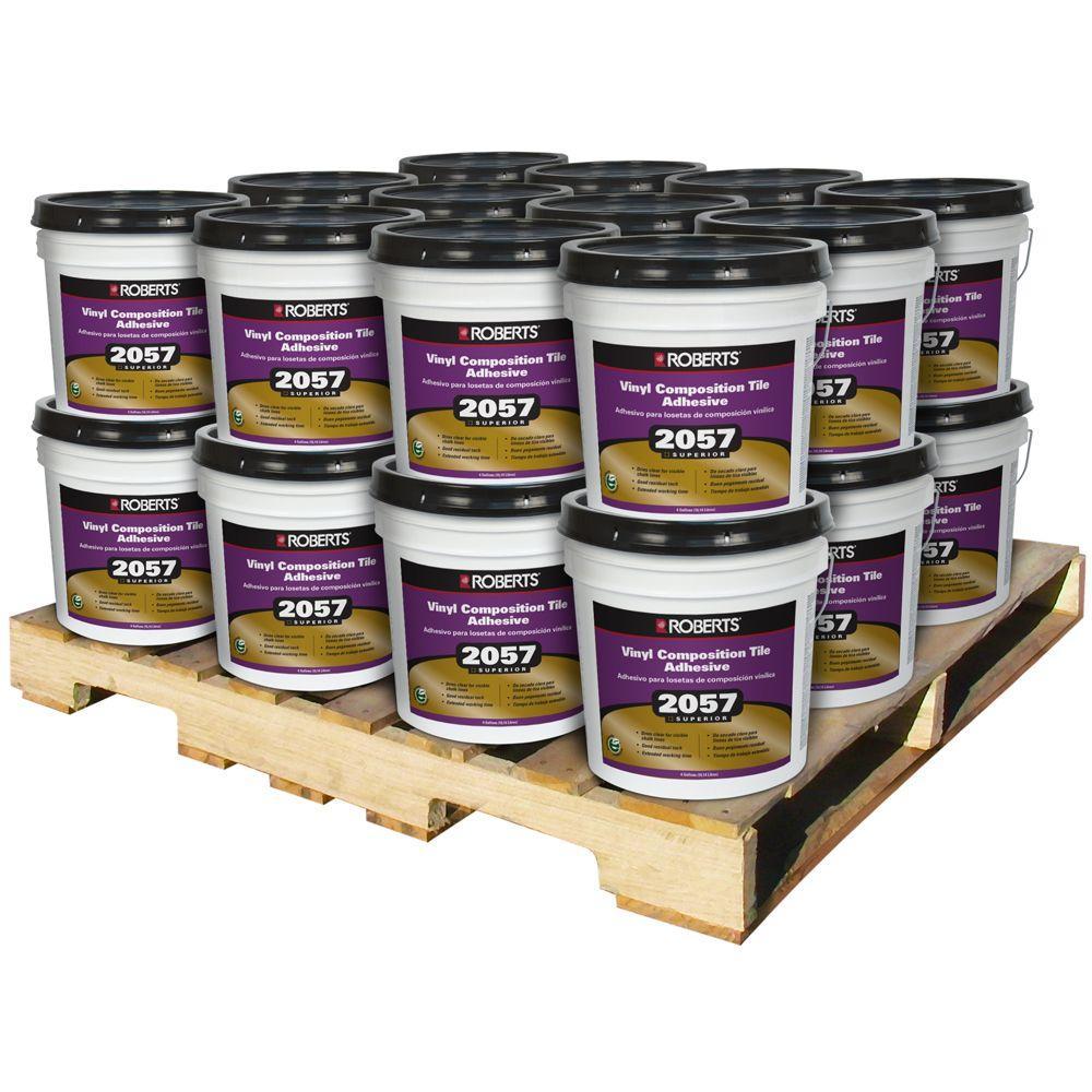 Roberts 4 Gal. Premium Vinyl Tile Glue Adhesive (24 Pail Pallet) by Roberts