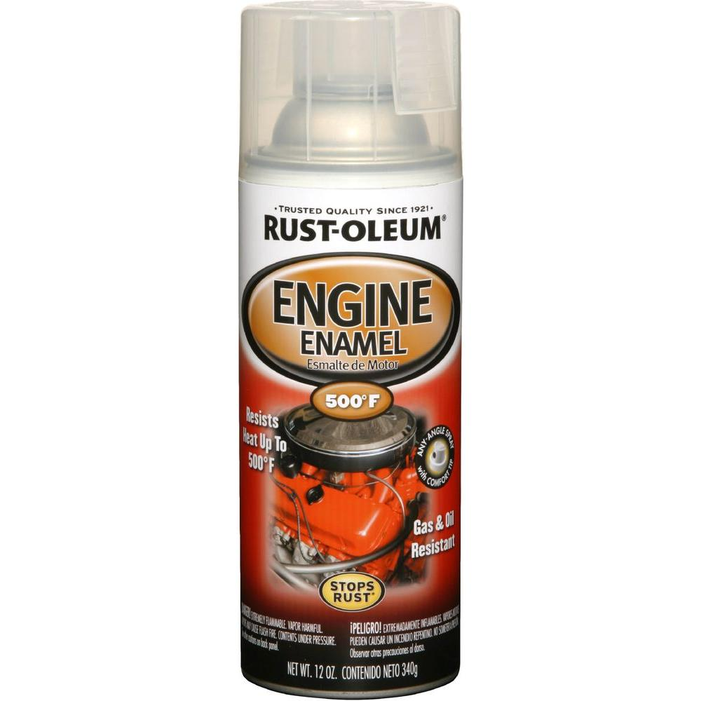 Rust Oleum Automotive 12 Oz Semi Gloss Clear Engine