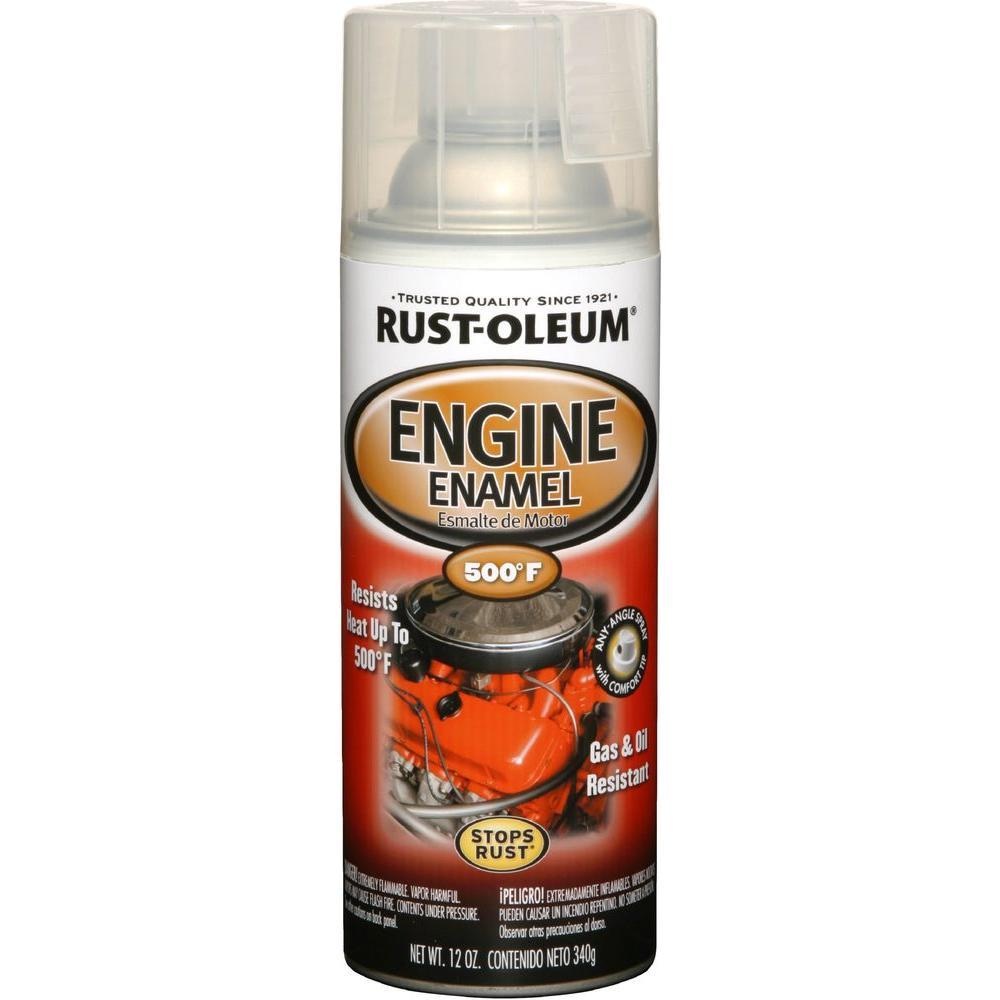 12 oz. Semi-Gloss Clear Engine Enamel Spray Paint (6-Pack)