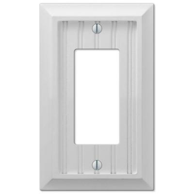 Cottage 1 Gang Decorator/Rocker Composite Wall Plate - White (4-Pack)