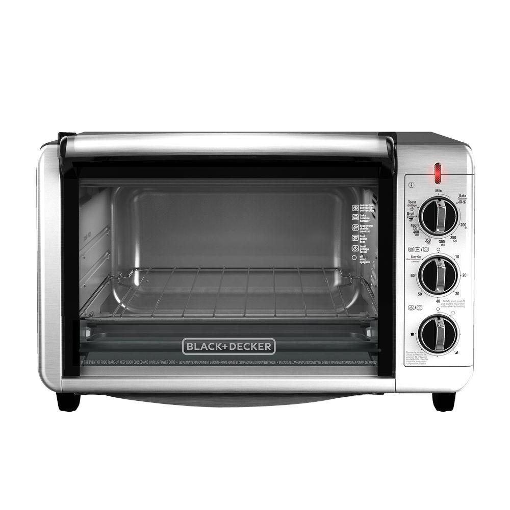black decker 6 slice silver toaster oven to3230sbd the home depot. Black Bedroom Furniture Sets. Home Design Ideas
