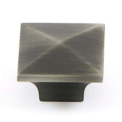 Cairo 1-1/4 in. Weathered Nickel Square Cabinet Knob