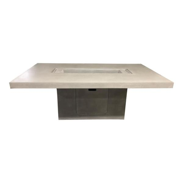 78.5 in. White and Brown Contemporary Square Table Fountain