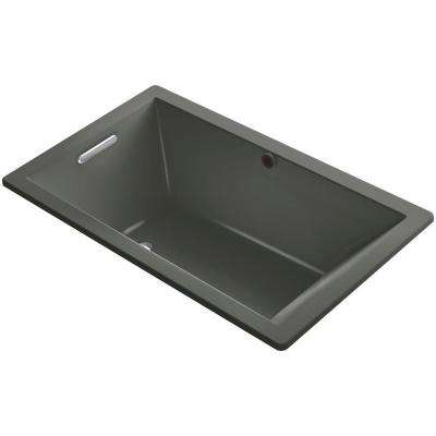 Underscore 5 ft. Reversible Drain Soaking Tub in Thunder Grey
