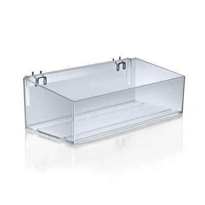16 in. W x 7 in. D x 4 in. H Clear Bin Divider Tray with U-Hooks