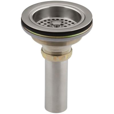 Duostrainer 4-1/2 in. Sink Strainer with Tailpiece in Vibrant Stainless