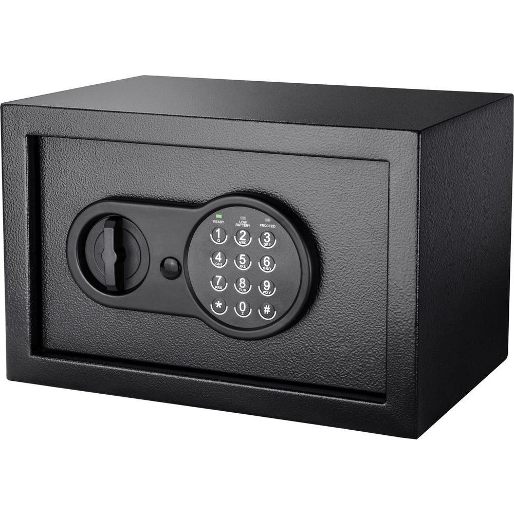 Compact 0.36 cu. ft. Steel Keypad Safe with Digital Keypad, Black