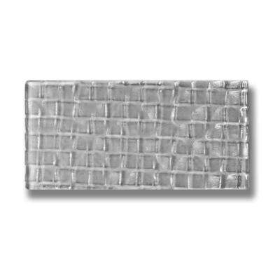 Metro Cubes Pebble Gray Subway 3 in. x 6 in. Glass Wall Tile (1 sq. ft. / pack)