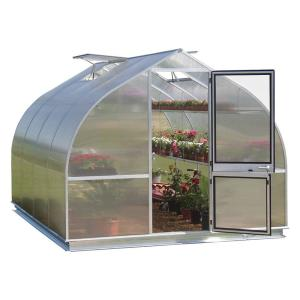 RIGA 7 ft. 8 inch W x 14 ft. Long Greenhouse with Shelf Kit and Base by RIGA