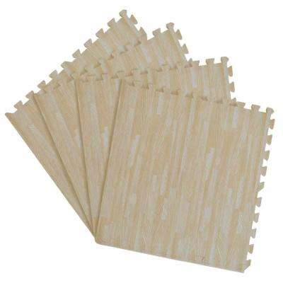 Ash 24 in. x 24 in. Interlocking Foam Anti Fatigue Tiles (16 sq. ft./case)