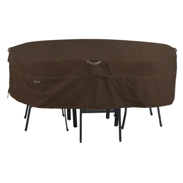 Madrona Rainproof Large Rectangular Oval Patio Table and Chair Set Cover