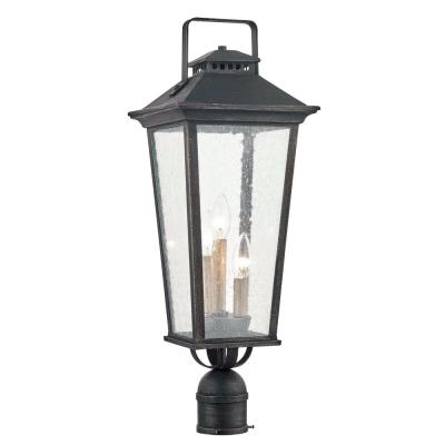 Parsons Field 3-Light Outdoor Aged Pewter Post Mount