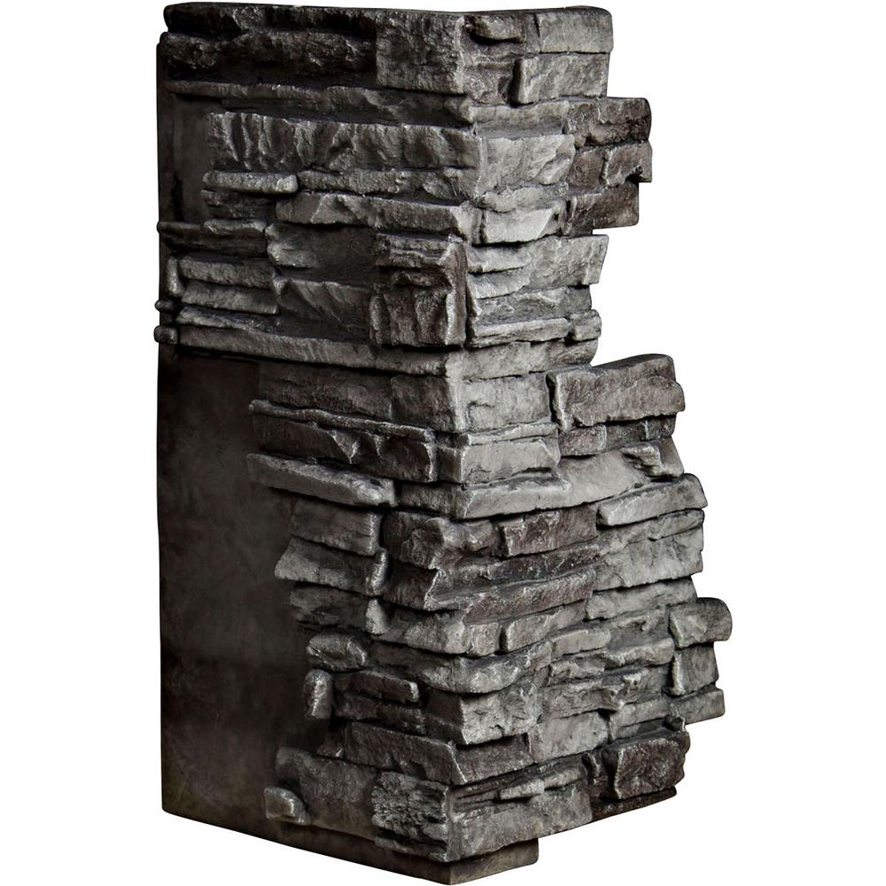 1-1/2 in. x 13-3/4 in. x 25 in. Slate Urethane Stacked