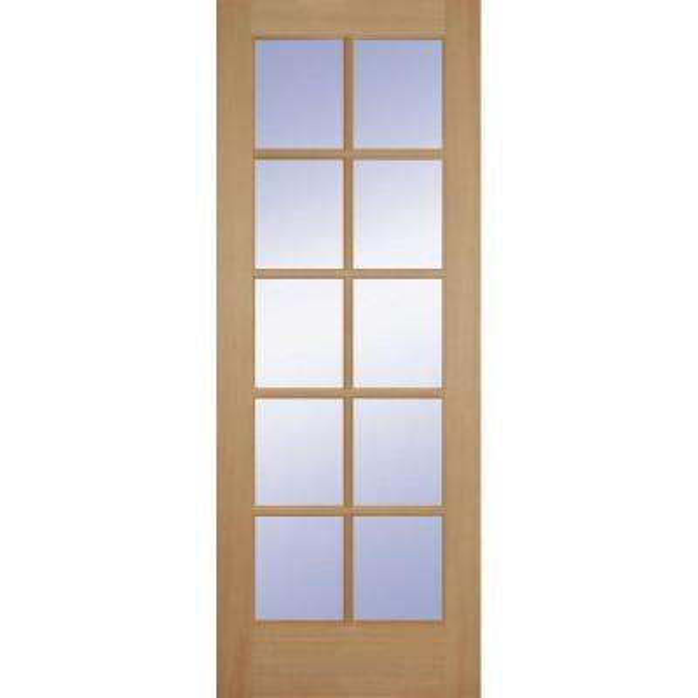 Fir 10-Lite Interior Door Slab