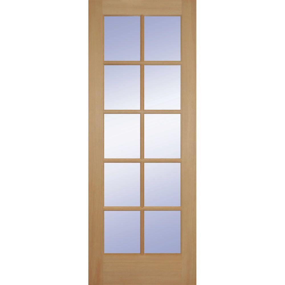 Builders Choice 36 In. X 80 In. Hemlock 10 Lite Interior Door Slab