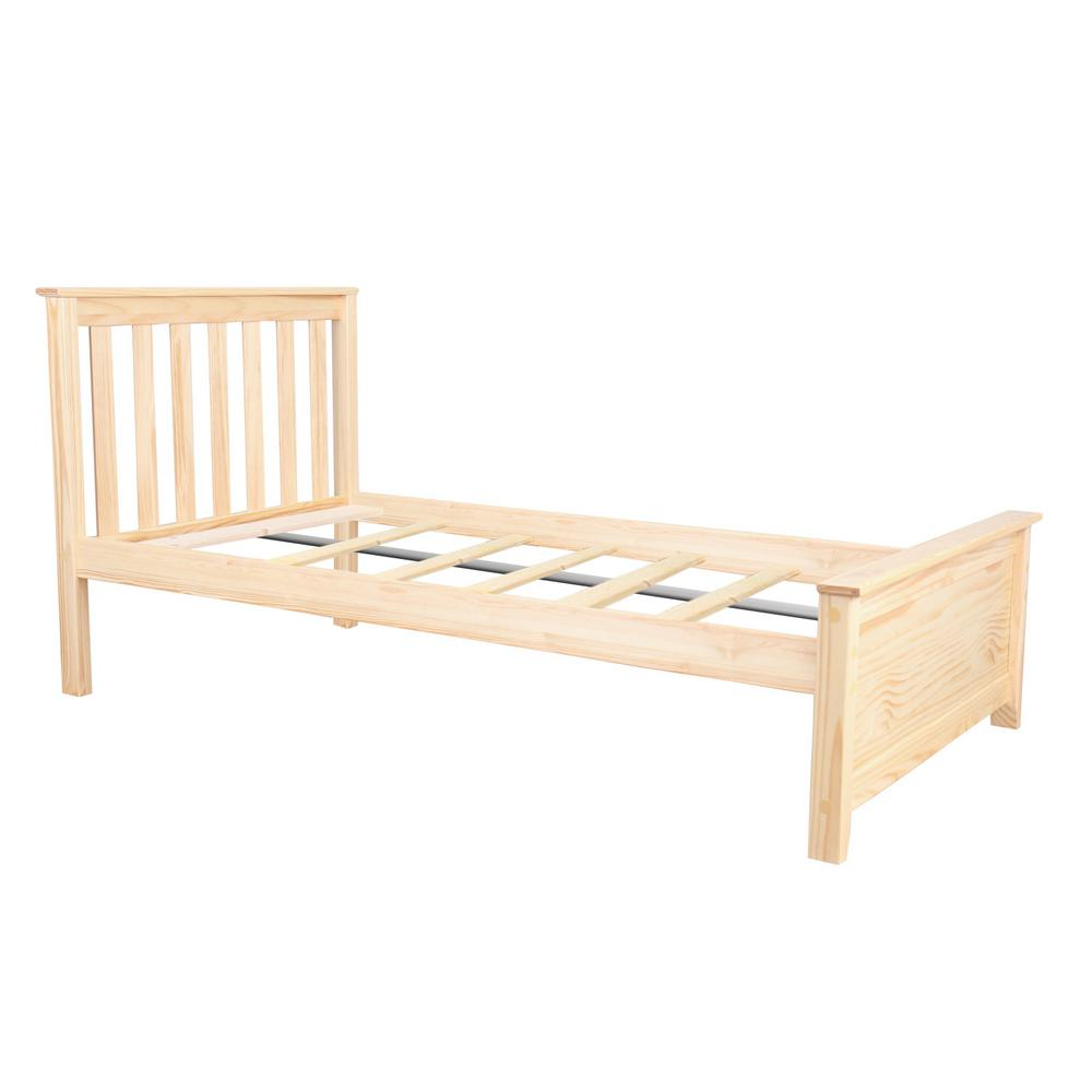 Max Lily Natural Twin Size Single Bed 180210 001 The Home Depot