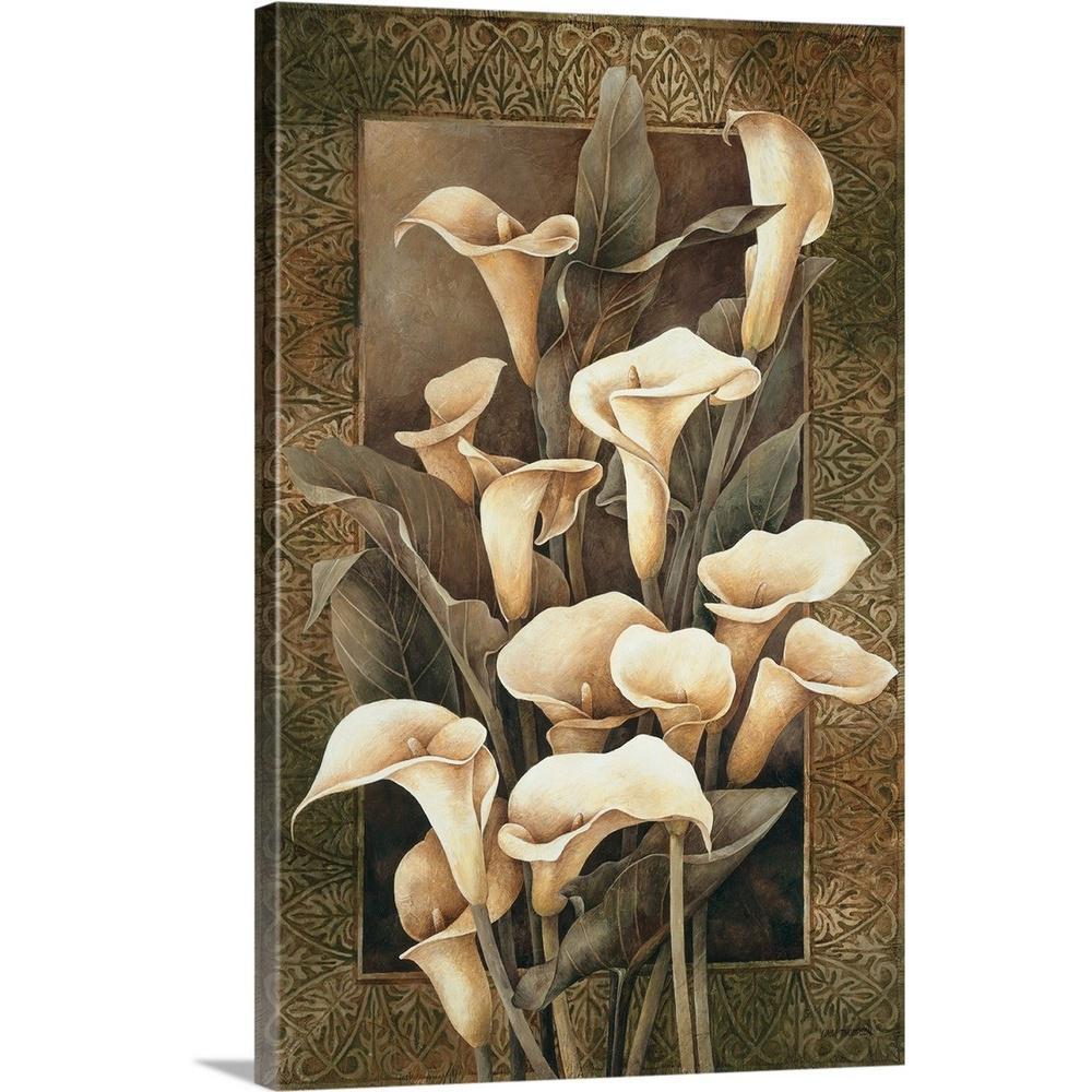 """Golden Calla Lilies"" by Linda Thompson Canvas Wall Art"