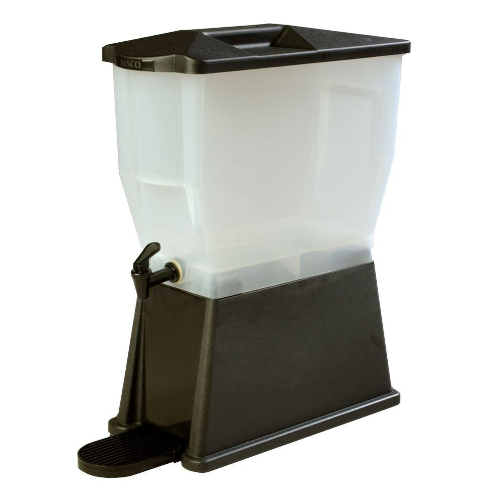 3 gal. Single Economy Reservoir and Trim Polypropylene Black Beverage Dispenser