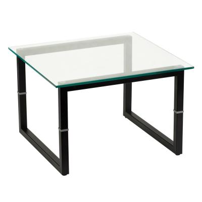 Clear/Black Coffee Table