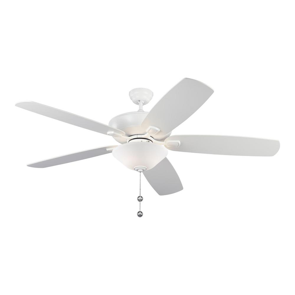Monte Carlo Colony Super Max Plus 60 in. Indoor/Outdoor Matte White Ceiling Fan with Light Kit was $279.0 now $179.97 (35.0% off)