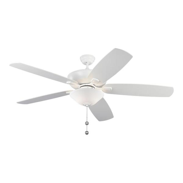 Colony Super Max Plus 60 in. Indoor/Outdoor Matte White Ceiling Fan with Light Kit