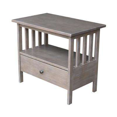 Mission Taupe Gray TV Stand