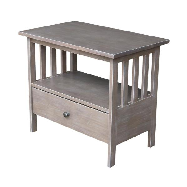 International Concepts Mission Taupe Gray TV Stand TV09-28