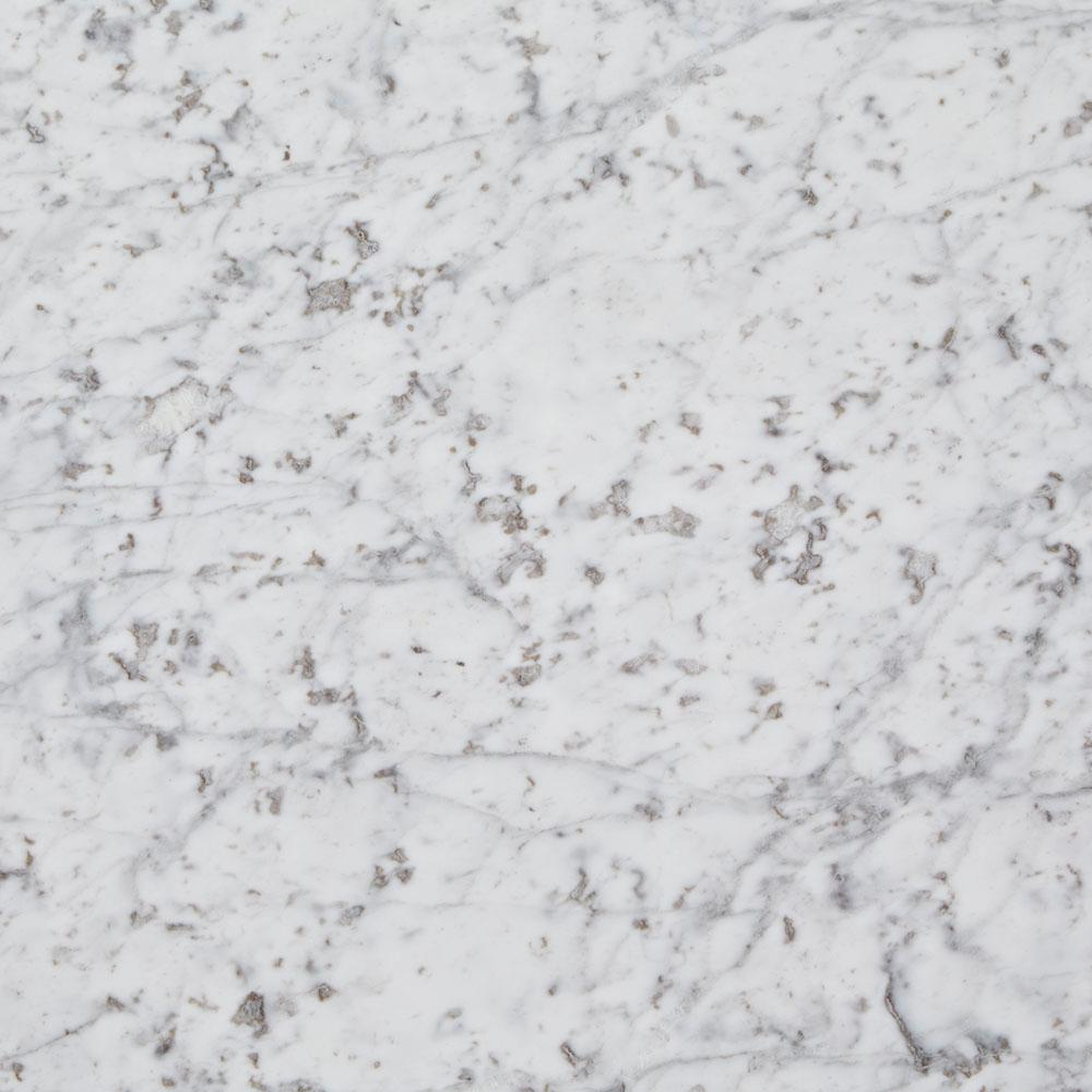 Sample Stainless Steel Carrara White Marble Stone Mosaic: 3 In. X 3 In. Marble Countertop Sample In Carrara White