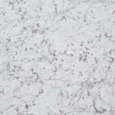 3 in. x 3 in. Marble Countertop Sample in Carrara White Marble