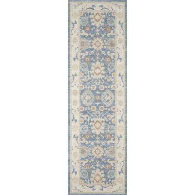 Anatolia ANA-7 Light Blue 2 ft. x 8 ft. Runner Rug