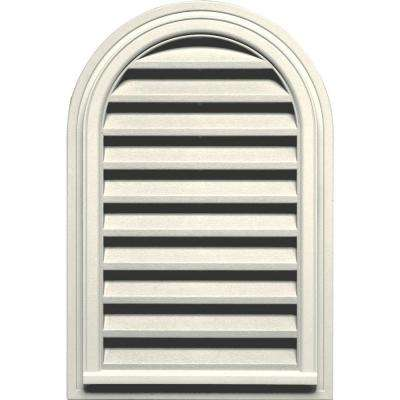 22 in. x 32 in. Round Top Gable Vent in Parchment