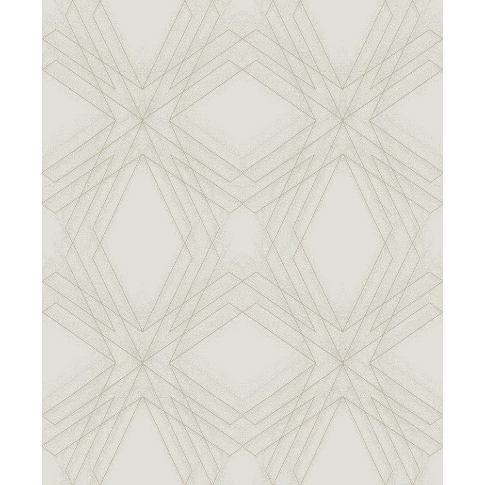 A-Street 8 in. x 10 in. Relativity Grey Geometric Wallpaper Sample
