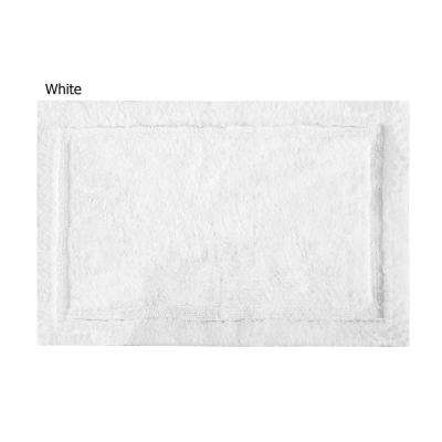 Asheville 21 in. x 34 in. 100% Organic Cotton Bath Rug in White