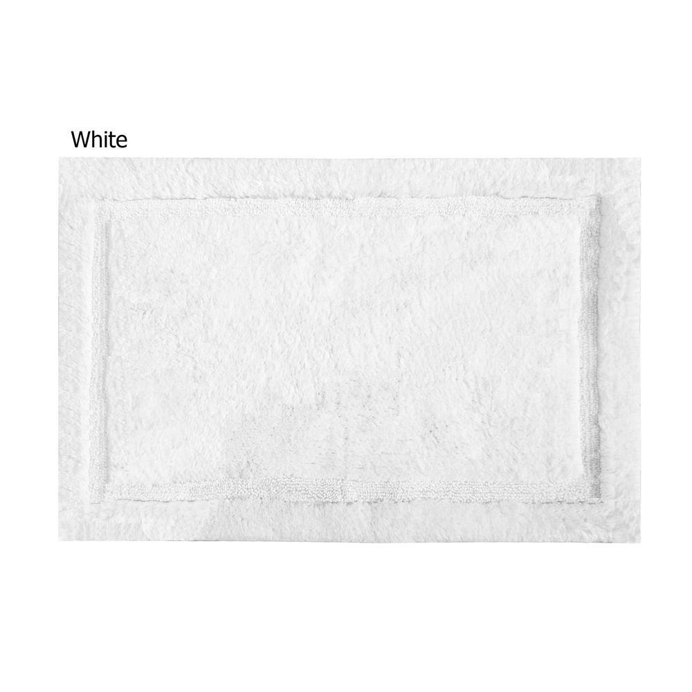 Asheville 24 in. x 40 in. 100% Organic Cotton Bath Rug in White