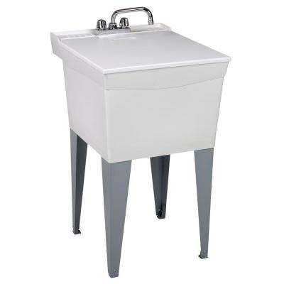 Utilatub Combo 20 in. x 24 in. x 33 in. Thermoplastic Floor Mount Laundry Tub