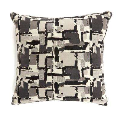 Concrit 22 in. Black Contemporary Standards Throw Pillow (Set of 2)