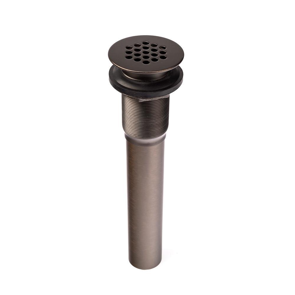 1-1/4 x 8-1/2 in. Bathroom Sink Grid Drain in Oil Rubbed Bronze
