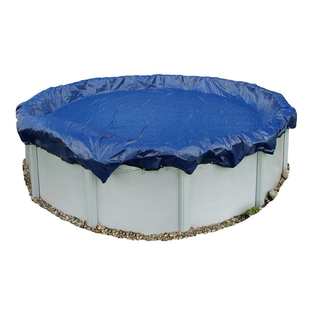 15-Year 24 ft. Round Royal Blue Above Ground Winter Pool Cover