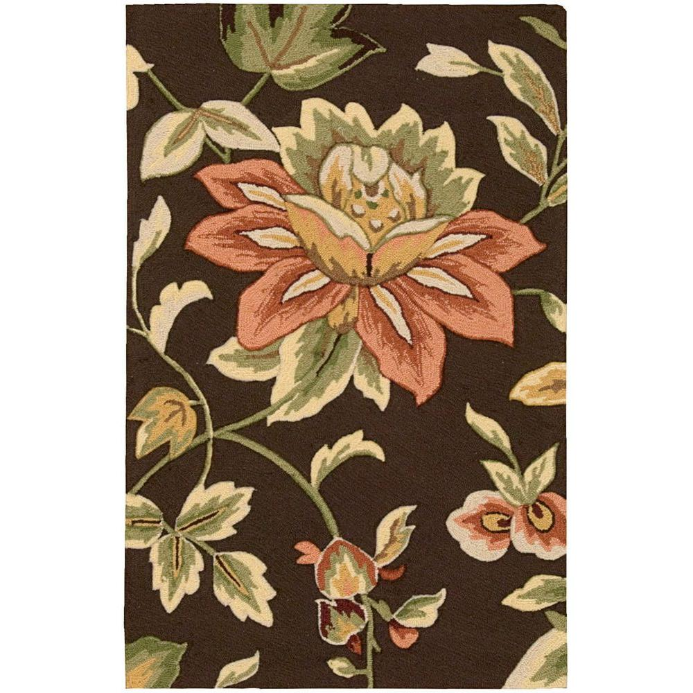 French Country Chocolate 2 ft. 6 in. x 4 ft. Accent