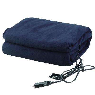 12-Volt Heated Travel Blanket in Navy Blue