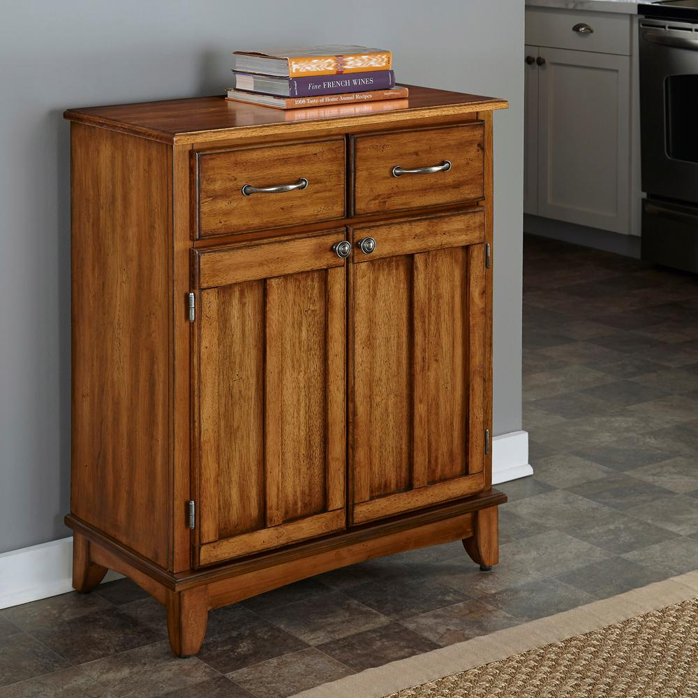 Home Styles Cottage Oak Buffet with Storage, Cottage Oak ...