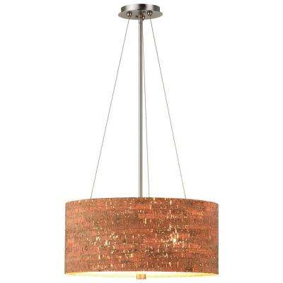 Alentejo 3-Light Satin Nickel Hanging Pendant