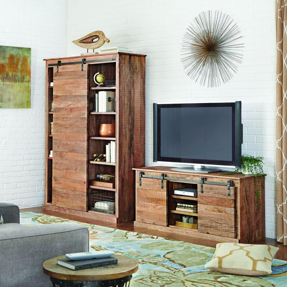 Bon Home Decorators Collection Holden Natural Storage Entertainment  Center 9528000910   The Home Depot