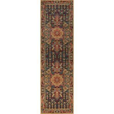 Ghazni Navy 2 ft. 3 in. X 7 ft. 6 in. Indoor Runner Rug
